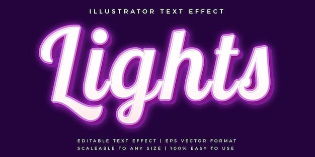 Efecto de fuente de estilo de texto informal púrpura brillante