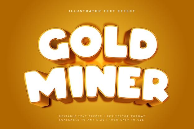 Efecto de fuente de estilo de texto de juego de oro blanco