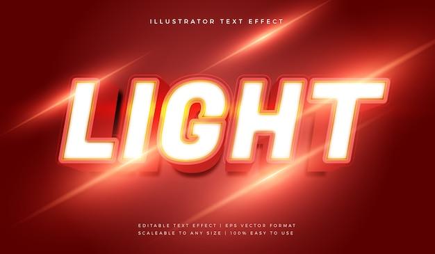 Efecto de fuente de estilo de texto de luz dramática