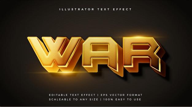 Efecto de fuente de estilo de texto de película de guerra dorada