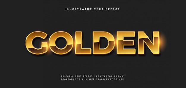 Efecto de fuente de estilo de texto premium dorado