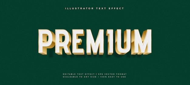 Efecto de fuente de estilo de texto premium de oro blanco