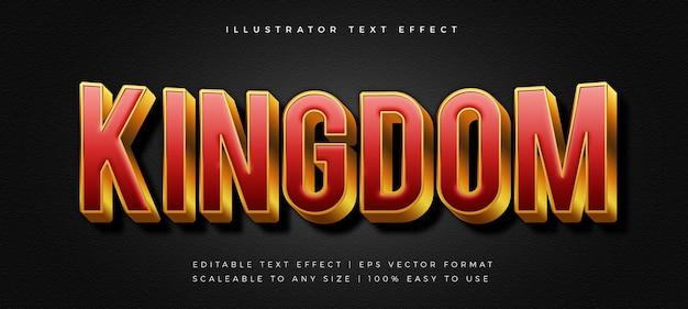 Efecto de fuente de estilo de texto de título de película rojo y dorado
