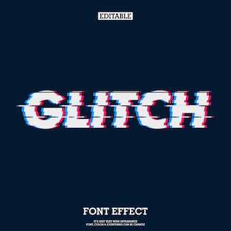 Efecto de fuente moderna glitch