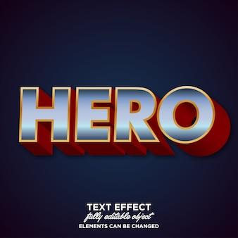 Efecto de fuente moderna para el nombre de los héroes