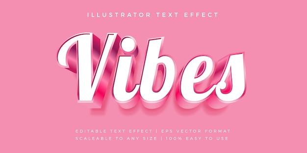 Efecto de fuente pink vibes text style