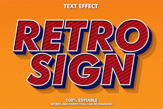 Efecto de fuente retro negrita para poste vintage, pancarta y folleto