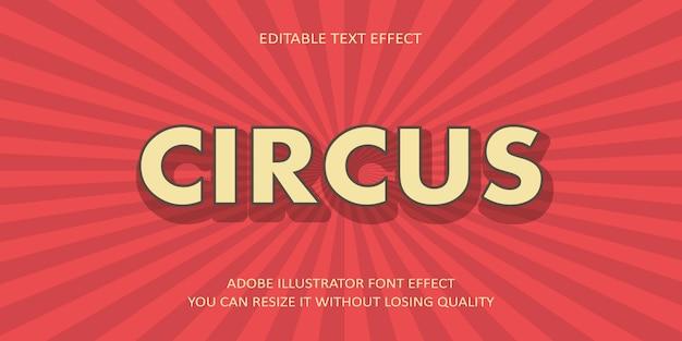 Efecto de fuente de texto de circo