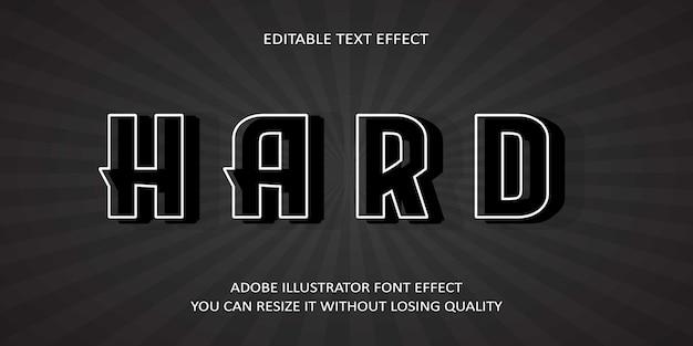 Efecto de fuente de texto duro