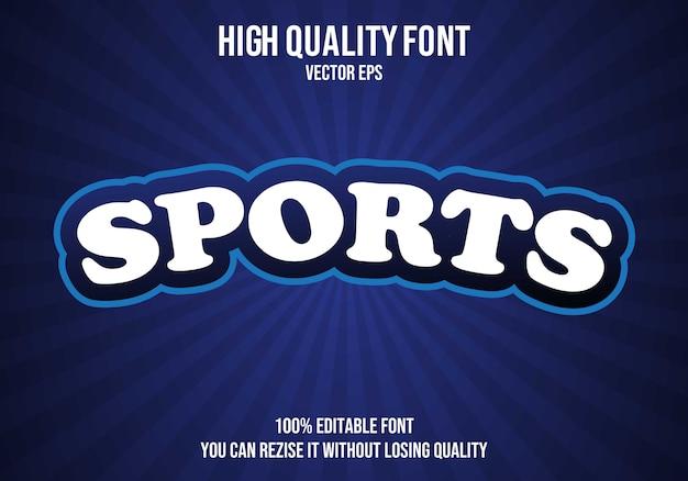 Efecto de fuente de texto editable deportivo