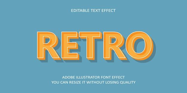 Efecto de fuente de texto editable retro