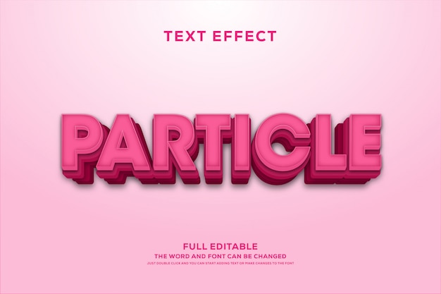 Efecto de fuente de texto editable rosa