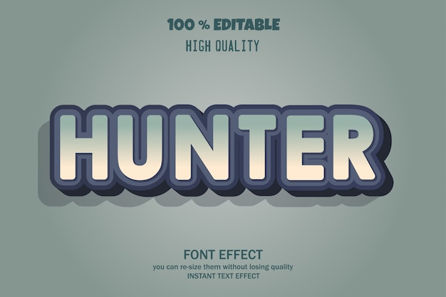Efecto de fuente de texto hunter