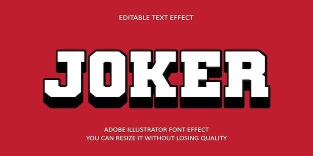 Efecto de fuente de texto joker