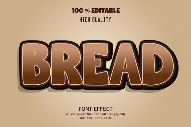 Efecto de fuente de texto de pan
