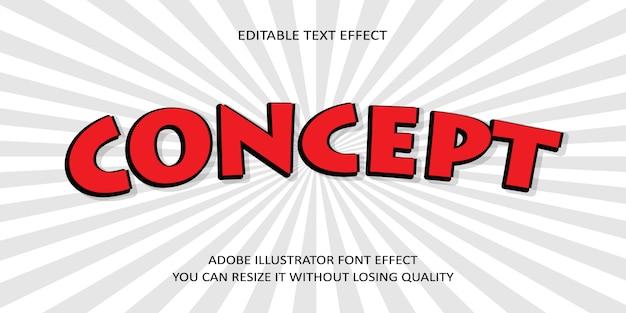 Efecto de fuente de texto de vector de concepto