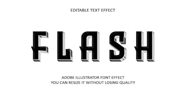Efecto de fuente de texto de vector flash