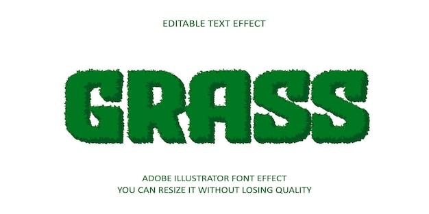 Efecto de fuente de texto de vector de hierba