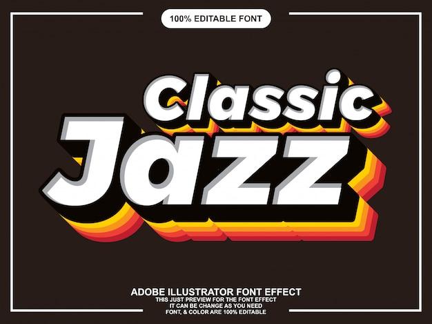 Efecto de fuente de tipografía editable vintage clásico