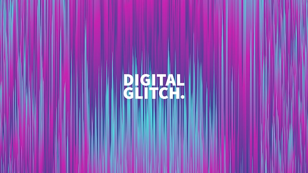 Efecto de glitch digital vector fondo abstracto