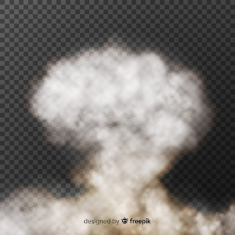 Efecto humo de bomba diseño realista