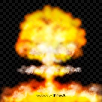 Efecto humo de bomba estilo realista
