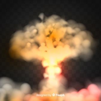 Efecto de humo de bomba nuclear realista