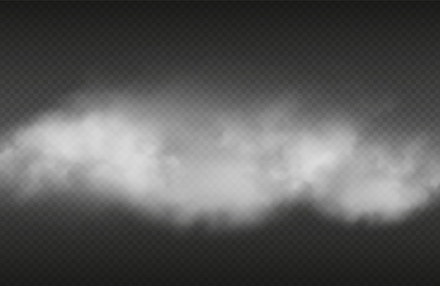 Efecto de humo humo realista o sobre fondo transparente