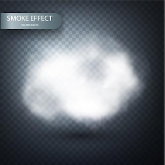 Efecto de humo sobre un fondo transparente realista.