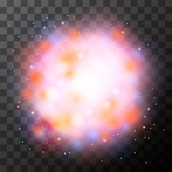 Efecto de iluminación mágica colorido brillante