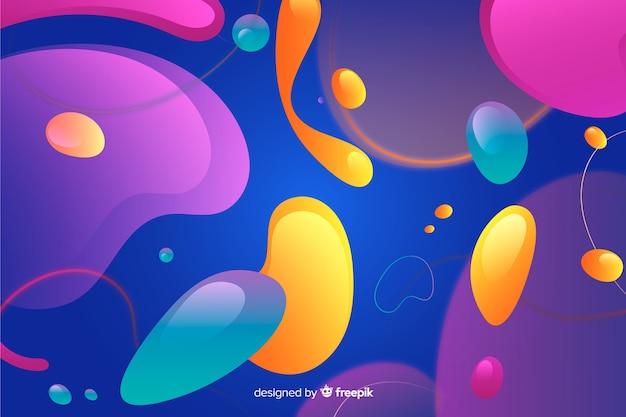 Efecto líquido acuarela de fondo burbujas