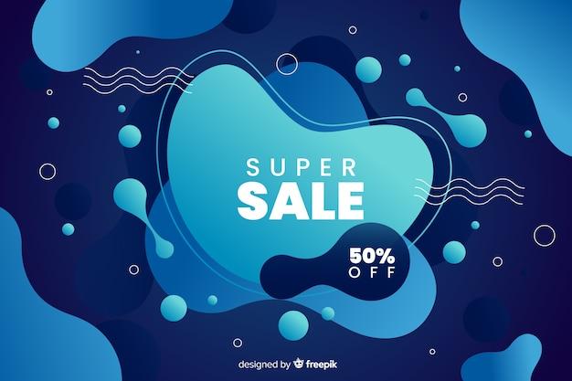 Efecto líquido de fondo colorido de ventas