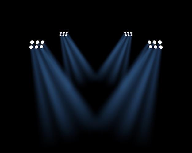 Efecto de luces de estadio en transparente