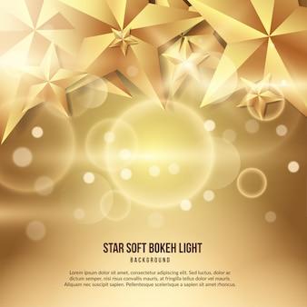 Efecto de luz bokeh suave estrella