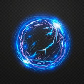 Efecto de luz de bola eléctrica