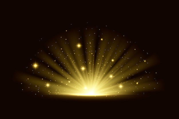 Efecto de luz brillante del amanecer