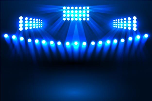 Efecto de luz brillante estadio