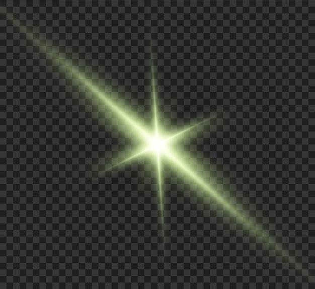 Efecto de luz brillante. estrella estalló con destellos. ilustración