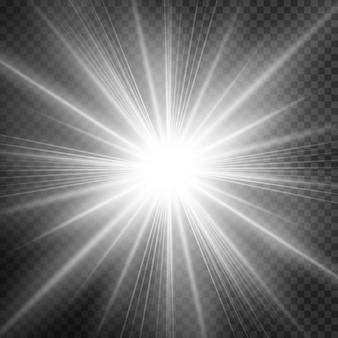 Efecto de luz brillante, explosión, brillo, chispa, destello solar.
