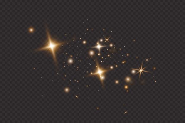 Efecto de luz brillante. flash de navidad. polvo.