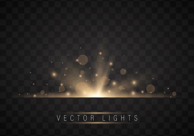 Efecto de luz brillante realista
