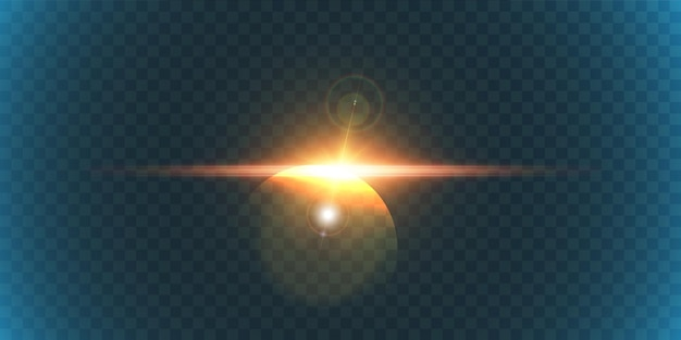Efecto de luz brillante con reflejos para fondos e ilustraciones.