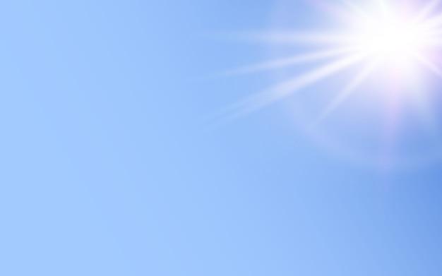 Efecto de luz brillante sobre fondo azul.
