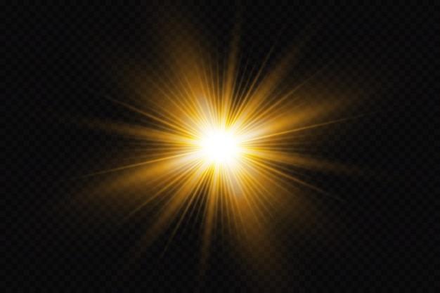 Efecto de luz brillante sobre fondo negro