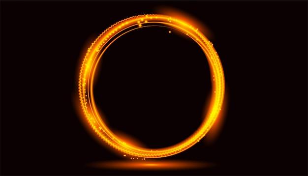 Efecto de luz de círculo de oro