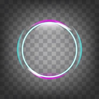 Efecto de luz de círculo.