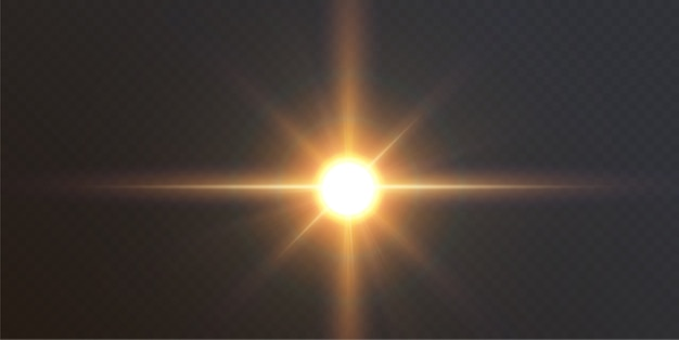 Efecto de luz de destello de lente especial de luz solar transparente abstracta. desenfoque en movimiento resplandor resplandor. fondo transparente aislado. elemento de decoración. rayos de explosión de estrella horizontal y foco.