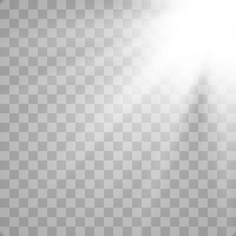 Efecto de luz de destello de lente especial de luz solar.