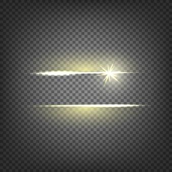 Efecto de luz de destello de lente