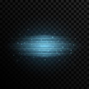 Efecto de luz elegante sobre un fondo transparente.